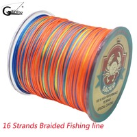 500M Braided Fishing Line 16 Strands Multi Color Super Strong Japan Multifilament PE Braid Line