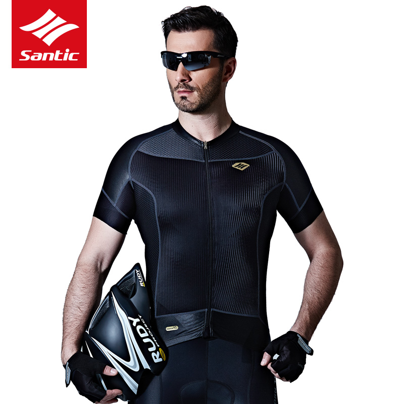 2018 Santic Cycling Jersey Men Bike Jersey Tour De France MTB Road Summer Pro Bicycle Clothing With Short Sleeve Roap Ciclismo santic men cycling jersey 2017 tour de france mtb road bike jersey anti shlip sleeve cuff bicycle top riding shirt cycle clothes