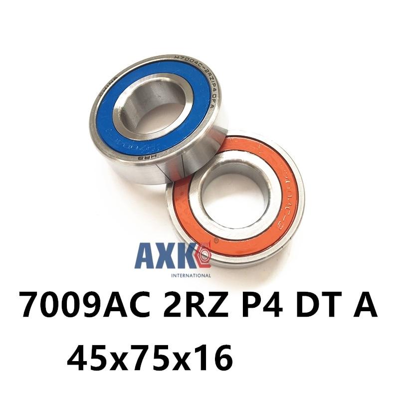 1 Pair AXK  7009 7009AC 2RZ P4 DT A 45x75x16 45x75x32 Sealed Angular Contact Bearings Speed Spindle Bearings CNC ABEC-7 1pcs 71901 71901cd p4 7901 12x24x6 mochu thin walled miniature angular contact bearings speed spindle bearings cnc abec 7