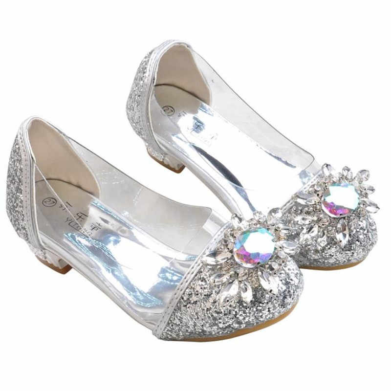 HaoChengJiaDe ฤดูใบไม้ผลิใหม่เด็กรองเท้าเด็กผู้หญิงรองเท้าแต่งงานรองเท้าส้นสูงรองเท้ารองเท้าปาร์ตี้หญิงหนัง