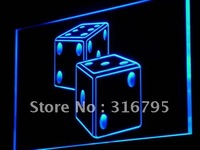 I897 Dice Game Gamble Bar Beer LED Light Sign On Off Switch 20 Colors 5 Sizes