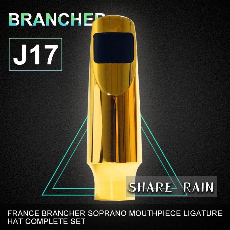 brancher soprano sax metal Mouthpiece ligature Hat 10pcs black soprano sax cap and ligature fit for saxophone strap mouthpiece