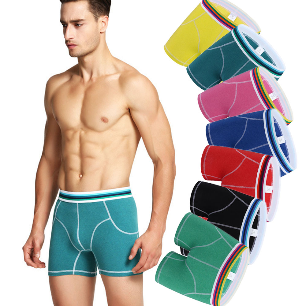 NXY 2018 New Fashion 2 pack Colorful Sexy Design cueca boxer shorts mens underwear males gift