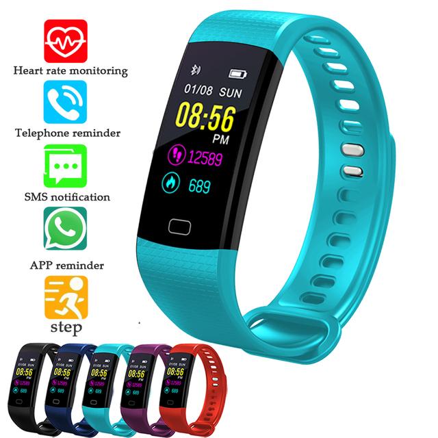 BANGWEI 2018 SmartWatch Electronic Smart Watch Women Men Running Cycling Climbing Sports Health Pedometer LED Color Screen Watch