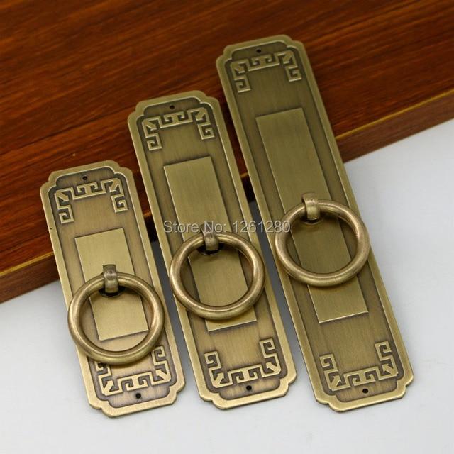 Chinês antigo simples puxador de gaveta hardware móveis sapato gabinete Clássico armário armário maçaneta da porta puxar anel cone do vintage