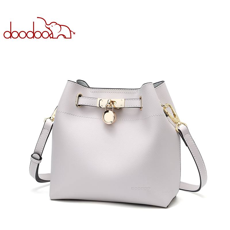 DOODOO Brand Women Handbag Tote Bucket Bag Female Shoulder Crossbody Bags New Ladies Pu Leather Solid Color 2018 Top-handle Bag women bag set top handle big capacity female tassel handbag fashion shoulder bag purse ladies pu leather crossbody bag