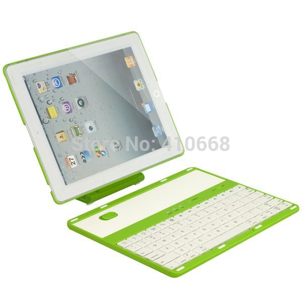 Detachable 360 Degree Swivel Rotating Wireless Bluetooth Keyboard Stand Case Cover For iPad 2 3 4 +Pen Free Shipping 360 degree rotating flip case cover swivel stand for ipad mini 3 2 1 white