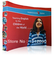 Ready Pop Fabric Pop Up Trade Show Display 10 foot curved Graphic and Frame Combo (free shipping)