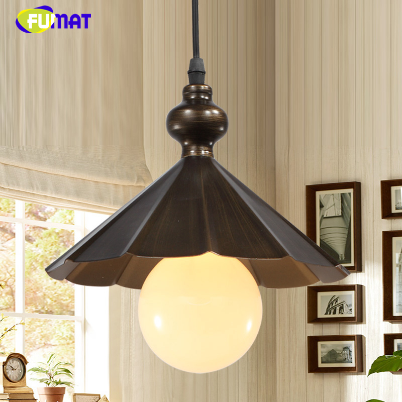 FUMAT Loft Pendant Lights Metal LED Light For Kitchen Dining Room Vintage Industrial Hanglamp Fixtures American Style Iron Light iwhd american retro vintage pendant lights fixtures edison loft industrial pendant lighting hanglamp lampen wrount iron