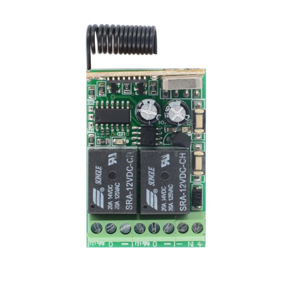 315//433MHz 220 V 10 A 1 CH Récepteur Sans Fil Relais RF Remote Control Module Commutateur