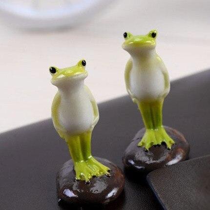 (Miniauftrag $5) 2 stücke Harz Schöne Frosch Garten Dekoration Dekor Mikroskopische landschaft Bonsai Topf Grünen Topf landschaft DIY