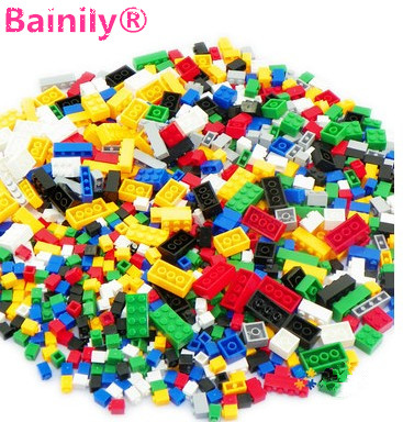 [Bainily]1000Pcs Building Blocks City DIY Creative Bricks Educational Building Block Toys For Child Compatible With legoe Bricks 1000pcs bulk bricks educational children toy compatible with major brand blocks 10 colors diy building blocks creative bricks