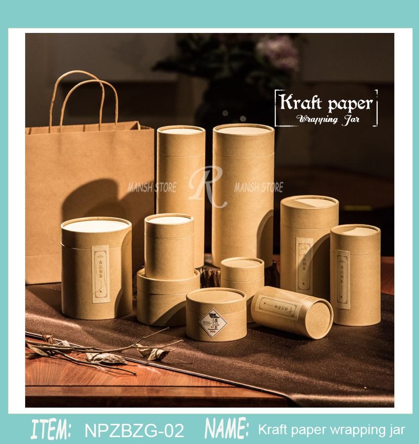 30pcs 50g 30g 80g100gTea Packaging Tube Drawing Tube Wrapping Packaging Wholesale Kraft Coffee Paper Tube Oil Painting Cylinder