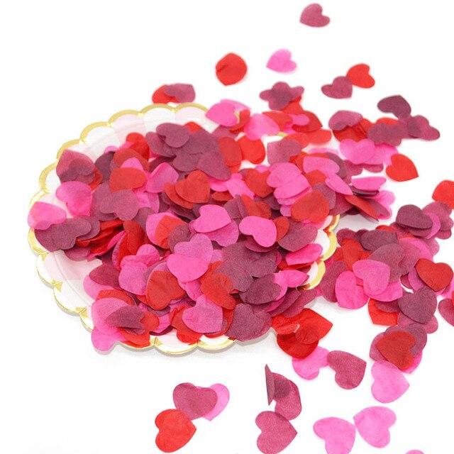 1000 cái/túi Mô Trái Tim Giấy Confetti Wedding Ném Nguồn Cung Cấp Khí Cầu Điền Confetti Valentine của Ngày Trang Trí Nội Thất 65