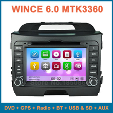 for KIA Sportage R 2010 2011 2012 2013 2014 Car DVD Player Radio with GPS Bluetooth AUX free 8GB map card support iphone ipod
