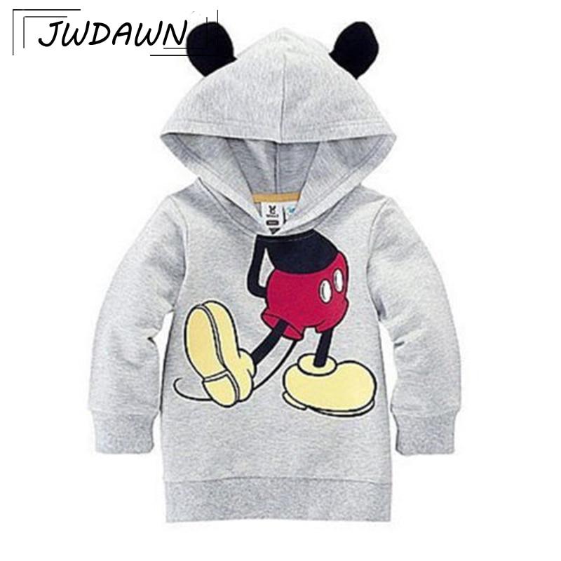 Baby Girls Hoodies Sweatshirt For Boys 2018 Hot Sale Cartoon Minnie Mitch Cotton Full Fashion Sweatshirt Kids Children Clothing