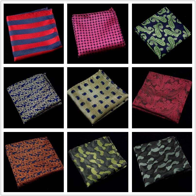 New Fashion Men's Cotton Handkerchieves Floral Handmade Pocket Square Men Suit Geometric Pocket Square Men Plaid Pocket Square