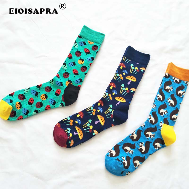 Unterwäsche & Schlafanzug 5 Pairs Skarpetki Womens Knit Warme Wolle Socken Geometrie Gedruckt Lustige Socken Calcetines Mujer