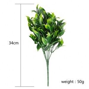 Image 5 - 7 widelców/bukiet 35 liści 34cm sztuczny pomarańczowy liść sztuczne rośliny strona główna balkon pejzaż z ogrodem akcesoria dekoracyjne