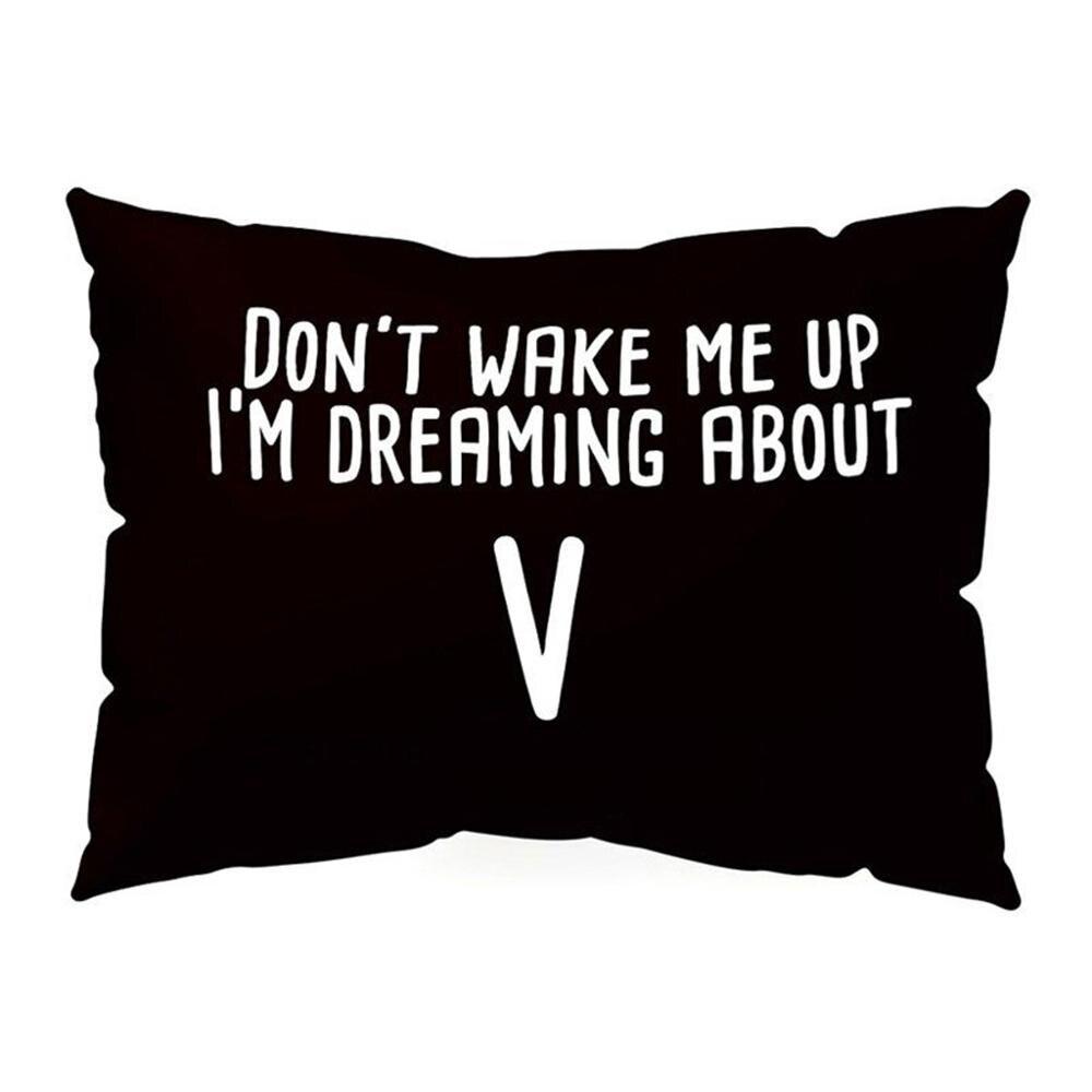 KPOP Pillow Case DONT WAKE ME UP Rectangle Home Adornment Get Up SUGA JIMIN V Jung Kook JIN J HOPE ARMY Pillowcase