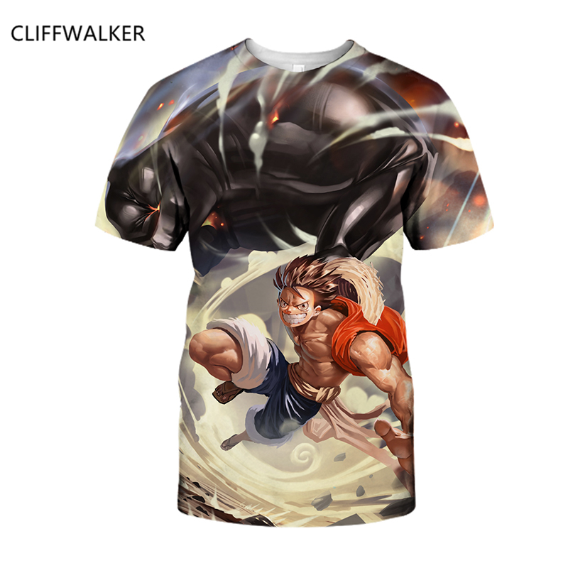 Drop Shipping New Design Summer 3D For Women's Men's T Shirt One Piece Anime T Shirts Fashion Clothing O-neck T-shirt Homme Tops