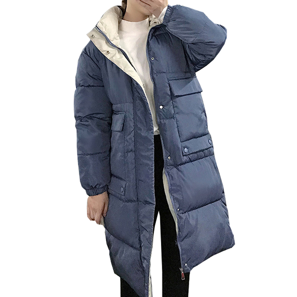 Hooded Ladies Coat Long Coats Parka oversize Colour jacket mid-long women winter thick jacket down jacket women winter 813