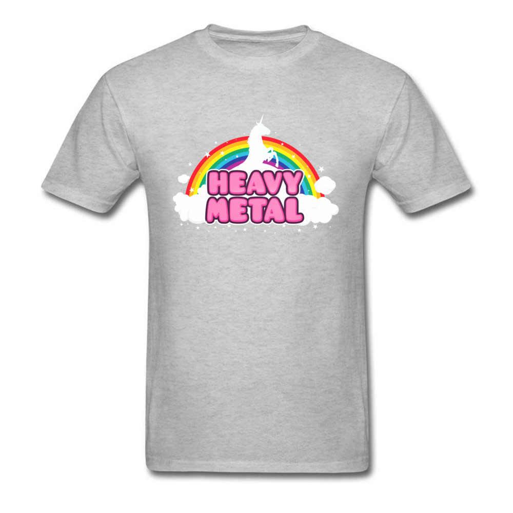 Тяжелый металлический Единорог Топы радужные футболки мужские футболки женская футболка черная футболка Kawaii мультфильм одежда бойфренд подарок рубашки