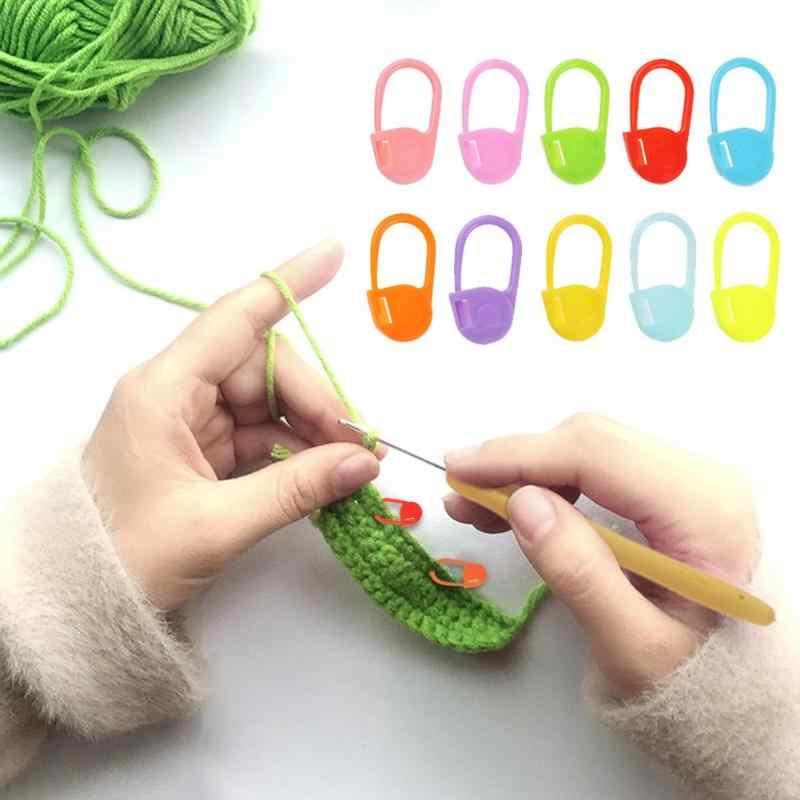 100pcs//lot Plastic Knitting Tools Locking Stitch Crochet Latch Needle Clip Hook