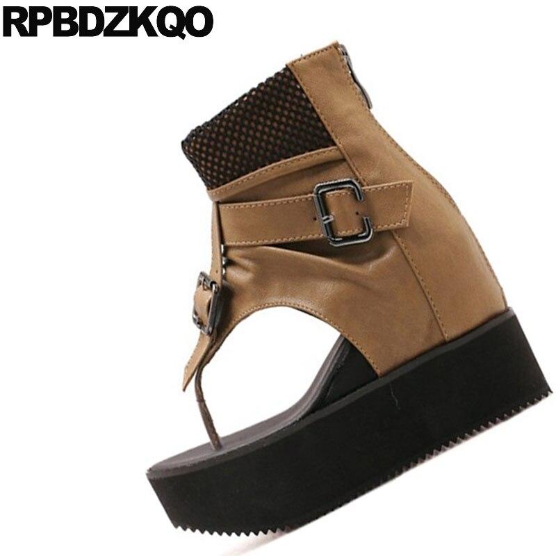 Heels Keil Stiefeletten Schuhe Schwarz Tanga 2018 Casual High Sommer Sandalen Stiefel Damen Billige Mode Pumpt Designer Schwarzoliv Plattform Frauen 3jALRq54
