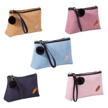 Multifunction Corduroy Makeup Case Women Handbag Travel Cosmetic Pouch Toiletry Organizer Bag multifunction creative travel toiletry bag organizer women cosmetic case makeup beauty hanging bag pouch case