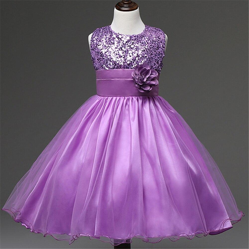 Girls Linen Dress Purple Wedding