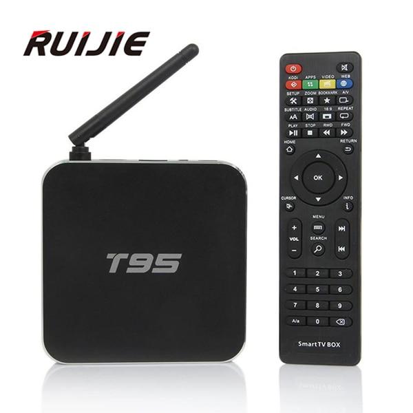 ФОТО Amlogic S905 Quad Core T95 Andorid 5.1 TV BOX 2GB 8GB Dual WiFi KODI 16.0 Full Loaded ADD ONS Pre installed Metal Case Smart Tv