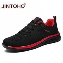JINTOHO marca de moda de los hombres zapatos casuales de los hombres zapatos de los hombres baratos Zapatos negro zapatos transpirables 2019 Zapatillas de Hombre