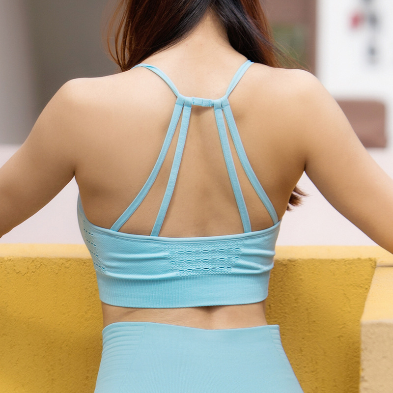 Icyzone Women Activewear Yoga Clothes Strappy Crisscross: Seamless Sports Bra Top Female Sport Bh Woman Yoga Bras