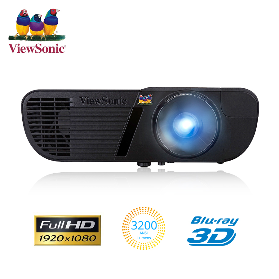 ViewSonic PJD7720HD 1920 x 1080 Resolution 3200 ANSI Lumens, 1.49~1.64 Throw Ratio Projector DLP 3D Full HD video Home Cinema image