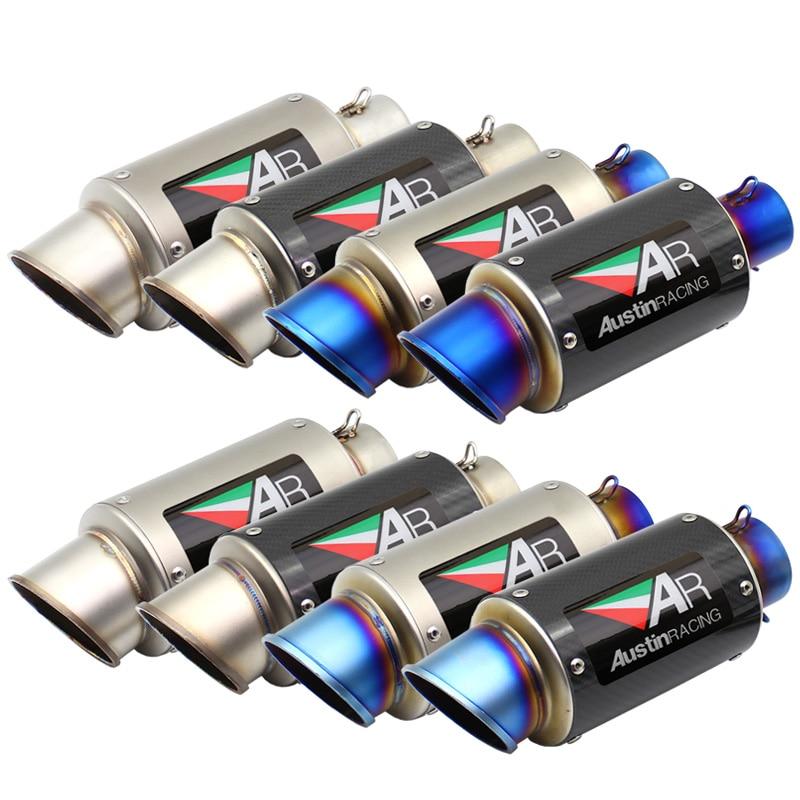 US $45 00 Inlet 51mm 61mm Motorcycle Exhaust Pipe Muffler AR