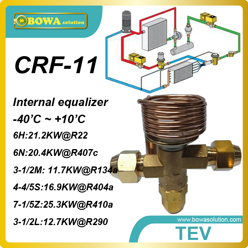 цена на CRF-11 R404a 16KW cooling capacity TX valve with copper tube designed for a wide range of cold room equipments  applications.