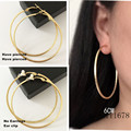 Fashion earrings wholesale line large square circle ear clip without pierced ear clip available Ms.