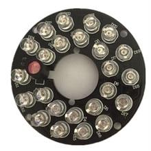 2PCS/LOT Infrared Light Board 850nm  24 LEDS 5mm IR Led Board For 60 bullet Camera 60 degrees bulb CCTV camera fill light