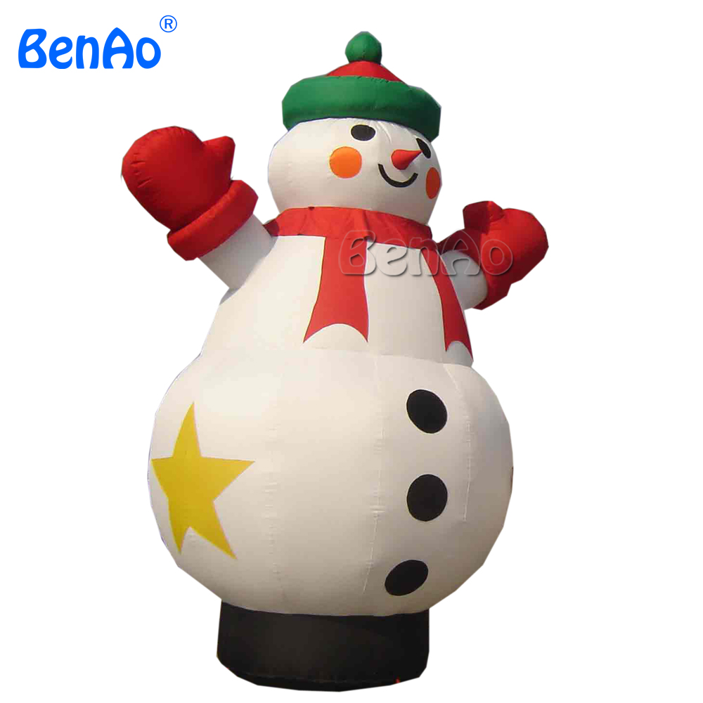 X081 Factory price 4m inflatable giant Christmas snowman,outdoor ...
