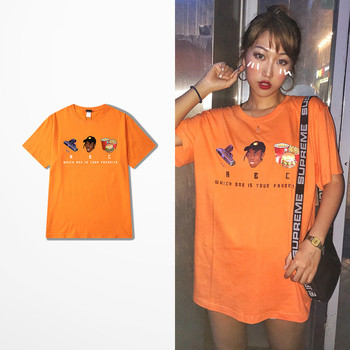 2018 Summer Korean Fashion  Harajuku T-shirt Men Skateboard Short Sleeve Cotton Tee Shirt Dark Souls Ulzzang Funny Print Top Tee