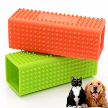 1pcs Hollow Pet Dog Cat Hair Shedding Remover Grooming Massage Comb Silicone Brush Fur Cleaner Tool Supplies