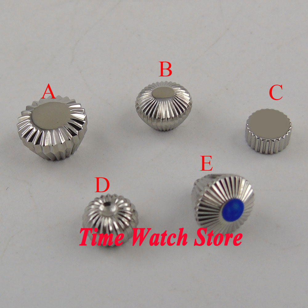 316L Stainless steel watch crown fit for ETA 6497 6498 <font><b>ST3600</b></font> 3620 hand winding movement watch case image