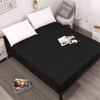 Solid 100% Waterproof Mattress Pad Cover For Mattress Protector Bed Sheet Anti Mites Bed Cover For Mattress Topper