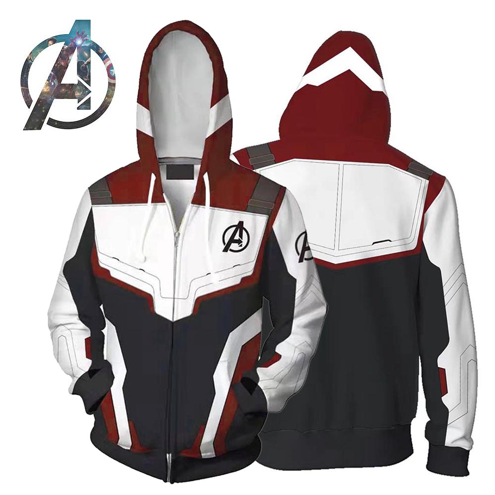 Avengers Endgame Jacket Quantum Realm Suit Inspired Lightweight Zip-up Hoodie  Superhero Cosplay Costume for Adult Kids