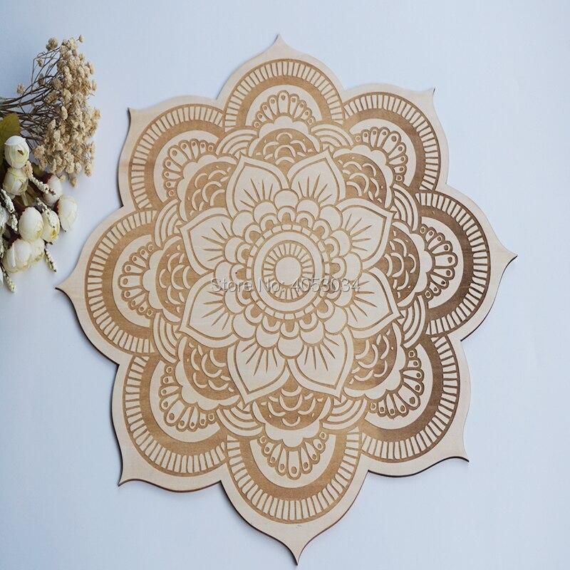 Us 12 59 16 Off Floral Mandala Wood Sign Spiritual Wall Art Wood Mandala Sacred Geometry Mandala Geometric Shaped Bohemian Wall Art Manda In