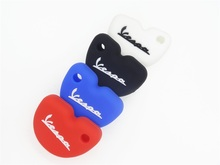 Silicone key cover shell skin protector keyring keychain for Vespa piaggi fly gts Gilera Nexus 500
