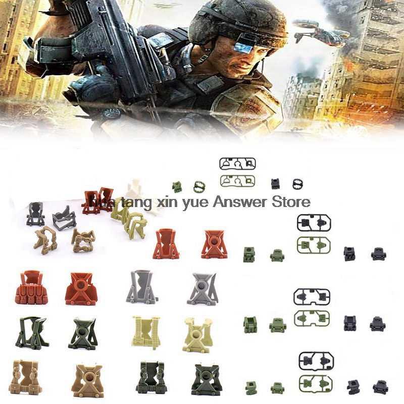 Legoing Блокировка Военная серия спецназ WW2 снаряжение оружием рюкзак тела доспехи фигурки наборы блок сращивания детские игрушки подарки