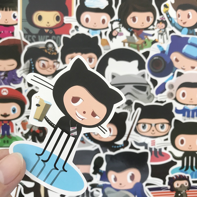 US $2 06 31% OFF|AQK 25 Pcs Funny GitHub Octocat Programming Stickers Ruby  Graffiti Sticker For Skateboard Luggage DIY Laptop Pad Case Car Decals-in