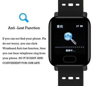 Image 3 - Pulsera inteligente Bluetooth pantalla táctil de Color grande reloj inteligente Correa extraíble de presión arterial para regalos iOS Android